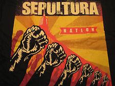 Sepultura Nation, 100% Cotton, Black, Short Sleeve Shirt LG