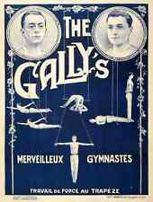 Metal Sign The Gallys 1920S French Circus Acrobat A4 12x8 Aluminium