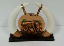 Kenya Souvenir Desk Decor Rhino Vintage