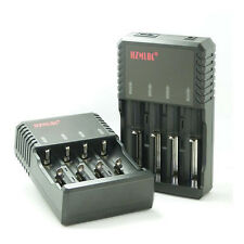 NUOVO Intelligent Multi CARICABATTERIE BATTERY CHARGER PER 4x 18650, 2x 26650 3.7v BATTERIA