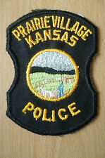 Patches- PRAIRIE VILLAGE KANSAS POLICE DEPT PATCH (NEW,apx4.4.6x3 inch)