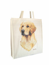 Labrador Yellow RM Natural Cotton Bag Gusset & Long Handles Perfect Gift