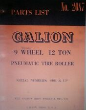 Gallion 9 Wheel 12 Ton Pneumatic Tire Roller Parts Manual 92p Tyred Asphalt Road