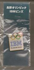 1998 IBM Olympic Worldwide Sponsor Pin Japanese Version Original Package Nagano