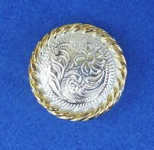 """Western Cowboy Decor Bright Flower Silver/Gold Rope 1"""" Concho's (6)"""