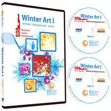 WINTER-CHRISTMAS BACKGROUNDS VECTOR CLIP ART-CLIPART CD