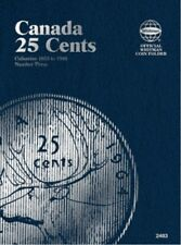 Canadian 25 Cents No. 3, 1953-1989, Whitman Coin Folder