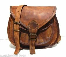 Mens Satchel Vintage Brown Leather Messenger Bag Shoulder Laptop Bag Briefcase