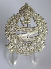 Canada Army The Canadian Intelligence Corps White Metal KC Cap Badge WWII WW2