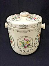 Vintage Dresdena Ware Biscuit Cookie Jar Japan Floral