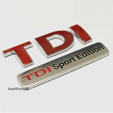 New TDI Sport Edition Badge Emblem Logo Decal Sticker Boot Rear Tailgate Trunk