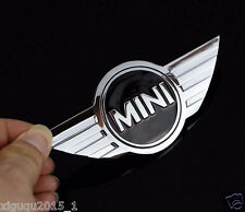 Mini Cooper Badge Logo Front Bonnet Hood Metal Sticker Rear Trunk Emblem