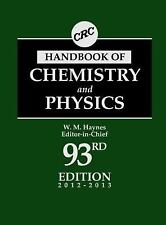 CRC Handbook of Chemistry and Physics, 93rd Edition-ExLibrary