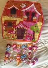 """LALALOOPSY LOT House Carrying Case / 12 Mini 3"""" Dolls & Accessories *RETIRED*"""