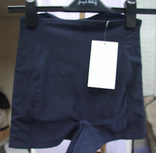 Yummie Tummie Shaping Swiss Dot & Diamond Navy Boy Shorts Control Corset SZ S