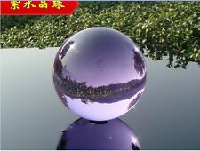 Asian Natural Quartz purple Magic Crystal Healing Ball Sphere 40mm+Stand###