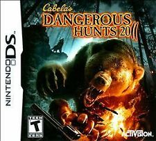 Cabela's Dangerous Hunts 2011 (Nintendo DS, 2010) BRAND NEW FACTORY SEALED