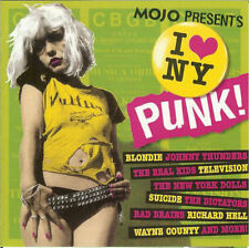 MOJO I Love NY Punk 15-trk CD NEW Blondie Suicide Richard Hell New York Dolls