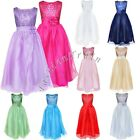 Flower Girls Kids Princess Party Pageant Wedding Tulle Dress Ball Gown Size 2-14