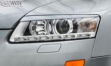 RDX Scheinwerferblenden Audi A6 4F C6 2008-2011 Böser Blick ABS Blenden Spoiler