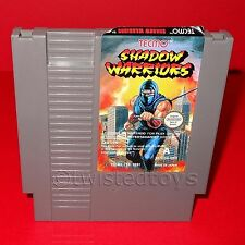 VINTAGE 1991 NINTENDO ENTERTAINMENT SYSTEM NES SHADOW WARRIORS CARTRIDGE GAME