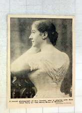 1902 A Recent Photograph Of Mrs Kendal, Playing With Miss Terry