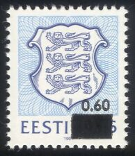 Estonia 1993 State Arms/Lions/Coats-of-Arms/Heraldry/Animals 1v surcharge ee1077