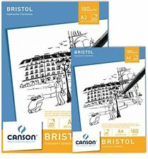 Canson A3 Bristol Pad with 20 Sheets Of High-white Smooth 180gsm Bristol Paper