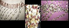 BEAUTIFUL DETAILED COST BEADED CURTAIN PANEL DIVIDER HIPPY GYPSY 40X82 STUNNING