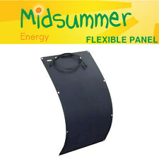 100W 12V flexi black solar panel with sticky self-adhesive back - boats, yacht