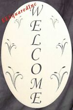 New 10x16 Oval WELCOME SIGN STATIC CLING WINDOW & DOOR DECAL Decor for Glass