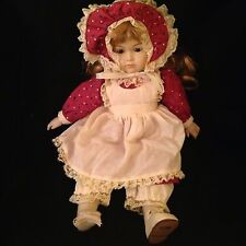 Vintage Musical Porcelain Doll