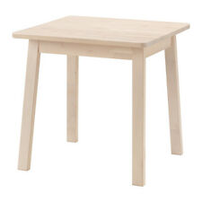 NORRÅKER Solid Wood White Birch Dinning/General Use Table,Round Corners,74x74 cm