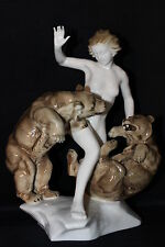Superb 30cm Hutschenreuther Porcelain figurine Jealousy Tutter china figure RARE