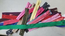 "lot of 100 Assorted wholesale mix different colors nylon zippers 4"" to19"""