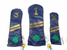 Sunfish Leather golf headcover set - DR, FW, HB - Notre Dame Fighting Irish