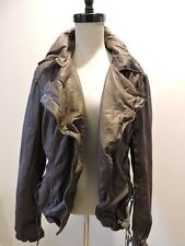 NWT $510 MUUBAA MEGGIE LEATHER BIKER SKINNY JACKET US 10 M UK 14 DUSKY GREY