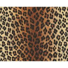 NEW AS CREATION LEOPARD PRINT PATTERN FAUX ANIMAL FUR TEXTURED VINYL WALLPAPER