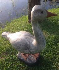 Oversized Duck Goose Swan Water Fowl Possibly Resin Fabulous Folk Art -VERY COOL