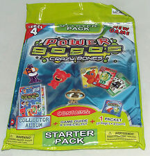 GOGOS CRAZY BONES - SERIES 4 - STARTER PACK - ALBUM, 2 GOGOS, 2 CARDS - NEW