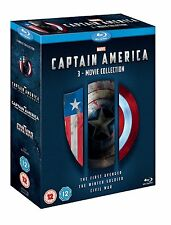 Captain America Trilogy 1-3 inc Civil War 3 Movie New Blu-ray Region Free