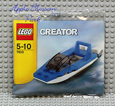 NEW Lego Creator Mini SPEED BOAT Set 7610 - Blue White Water Ski Jet Boat - RARE