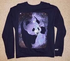 Men's Enjoi Skateboarding Cosmic Big Panda Sweatshirt Navy Medium