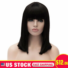 Cosplay Party Long Straight Anime Wigs Full Black Hair Wig Heat Resistant