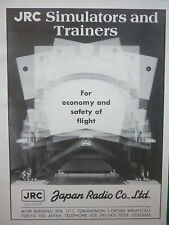 11/1981 PUB JAPAN RADIO CORP LTD TOKYO SIMULATORS TRAINERS ORIGINAL AD