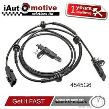 PEUGEOT 407 CITROEN C6 FRONT LEFT RIGHT ABS SPEED SENSOR 1.6 2.0 2.2 HDI  4545G6