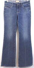 Paige Denim Jeans Misses Size 28 ROBERTSON Low Flare Pants Stretch Inseam 33