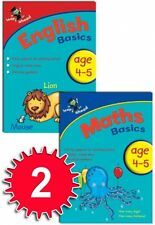 Leap ahead Maths and English  Basics ages 4-5, 2 set book collection, easy