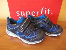 Boys SUPERFIT GORETEX 411a Navy SUEDE Velcro TRAINER Size UK 7.5 EUR 25 NEW!
