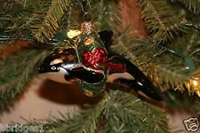 *Christmas Orca* Whale Ocean [12114] Old World Christmas Glass Ornament - NEW